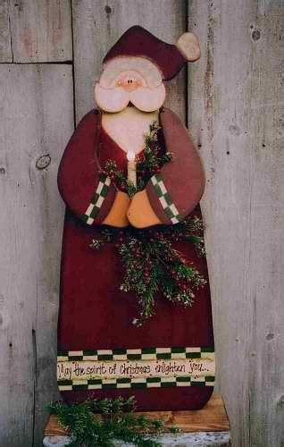 santa wood christmas craft xmas projects pinterest