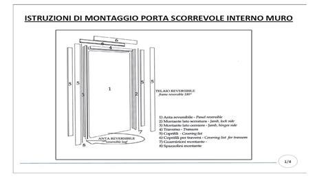 porte scorrevoli montaggio istruzioni montaggio porta scorrevole interno muro