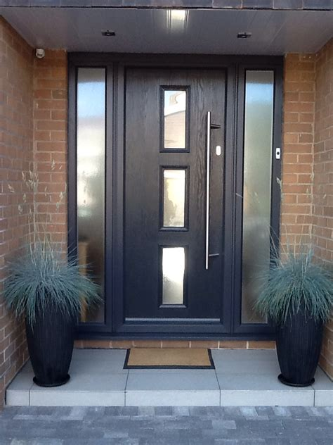 contemporary front doors contemporary grey front door grey with opaque sidelight
