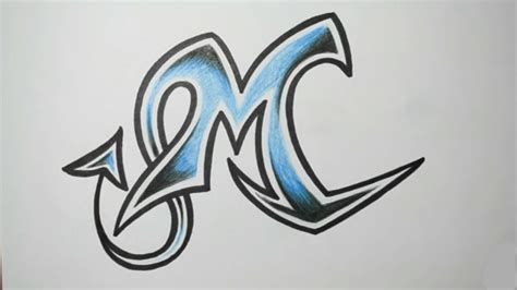 M Drawing Images by كيف ترسم حرف M بطريقة جميلة