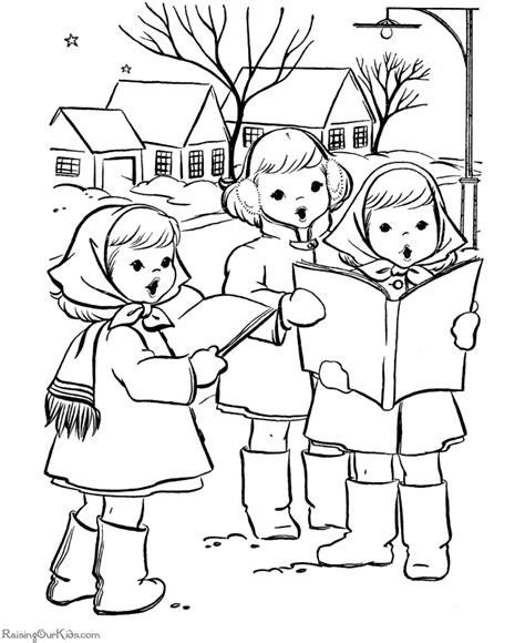 coloring page christmas carolers free printable christmas coloring pages kids fun and