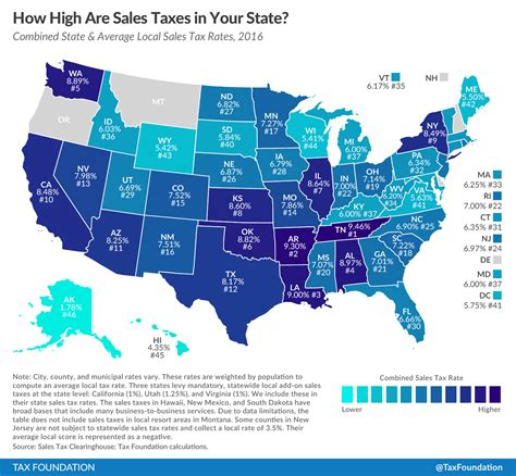 sales tax table 2016 state and local sales tax rates in 2016 tax foundation