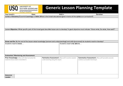 lesson plan template qld lesson plan template qld 43 unique danielson