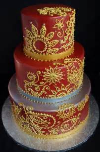 indianer kuchen indian mendhi fondant wedding cake gold silver oregon