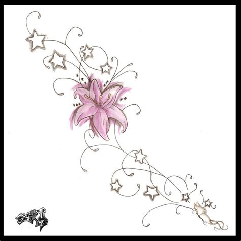 flower and stars tattoo designs flower and tattoos design