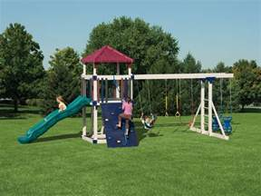 swing sets maintenance free vinyl outdoor playsets