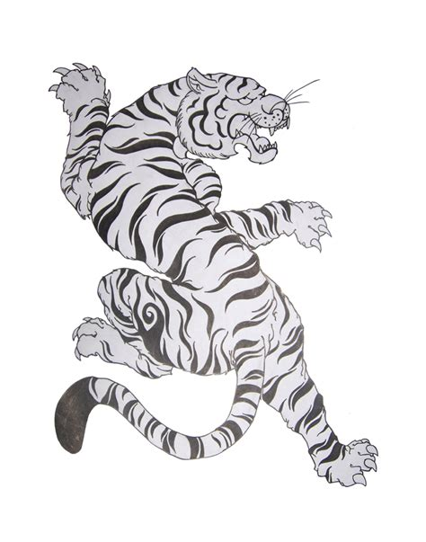 climbing tiger tattoo designs grey and white climbing tiger design by cheeraw