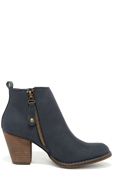 navy boots ankle boots booties navy blue boots
