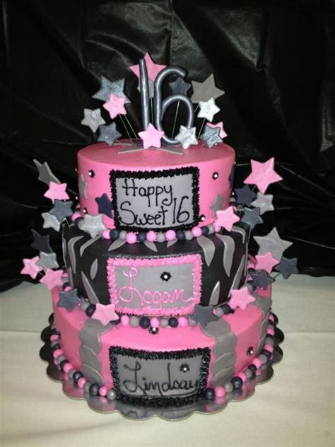 Sweety Black sweet 16 pink and black cakecentral