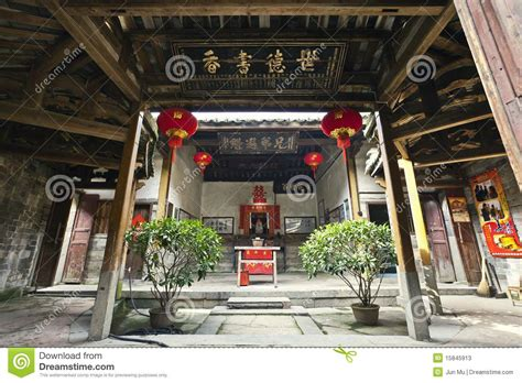 Free Floor Plans For Houses Chinese Style Old House Stock Photos Image 15845913