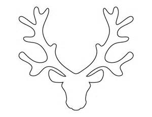 Reindeer Antlers Template by Reindeer Antler Template Crafts