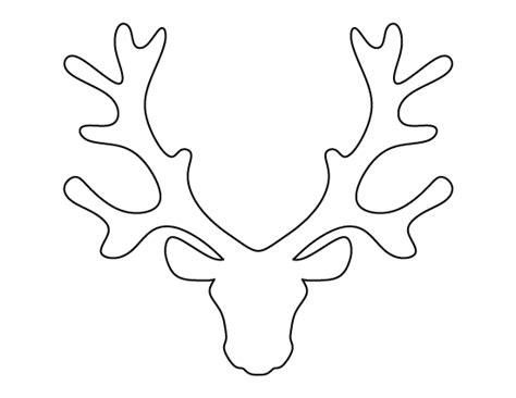 reindeer head pattern use the printable outline for