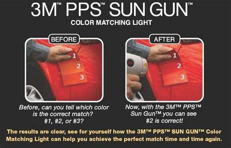 3m pps sun gun color matching light auto paint spray