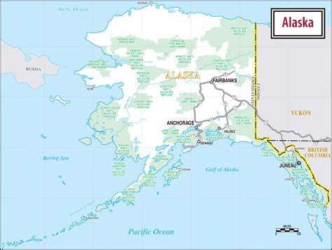 map alaska large road map of alaska alaska large road map vidiani maps of all countries in one place
