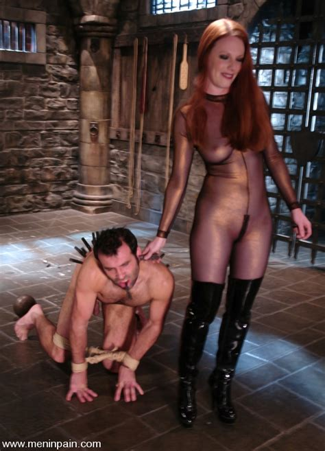 Red Haired Dominatrix Lydia Mclane Tortures Her Male Slave Non Stop With No Mercy