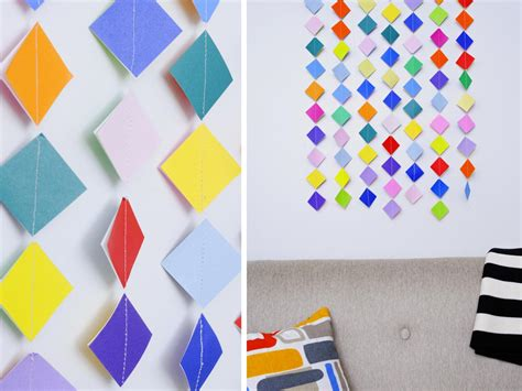 How To Make Handmade Wall Hangings - make colorful garland wall with origami paper hgtv