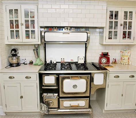 1920s Kitchen Cabinets by Inspired By The Black And White Tiled Kitchens Of The