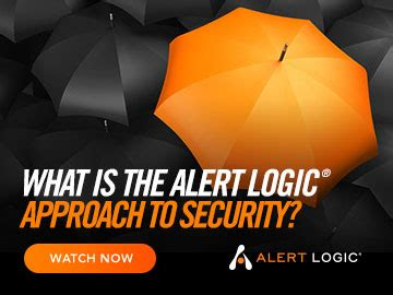 what is the alert logic approach to security?