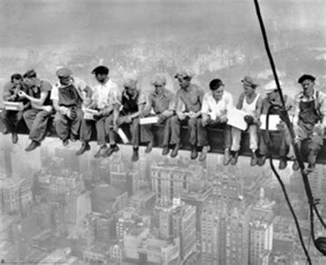 lunch atop a skyscraper (new york construction workers
