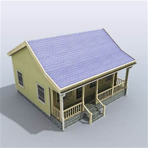 small house model 3d model light green small house 29 95 buy download