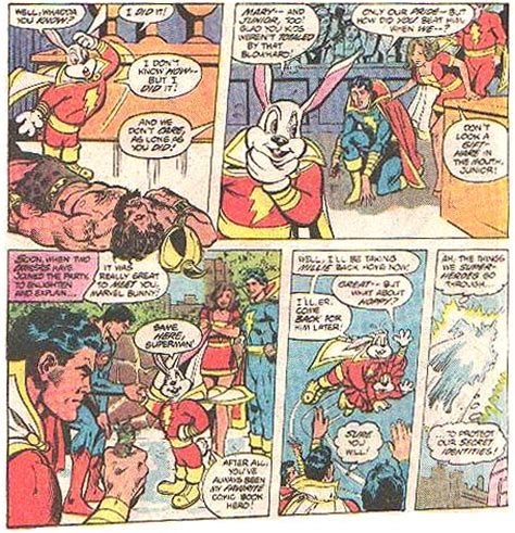 dc meets looney tunes superman meets an assortment of fuzzy bunnies