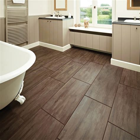 bathrooms with wood tile floors tile wood floor bathroom decoration