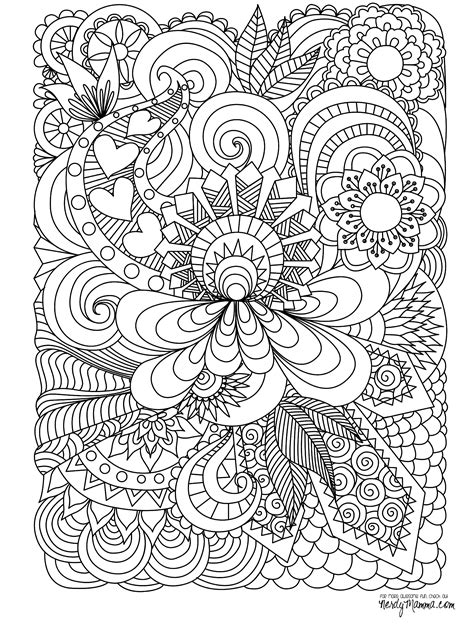 detailed abstract coloring page 11 free printable adult coloring pages adult coloring