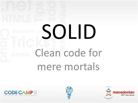 for mere mortals solid clean code for mere mortals