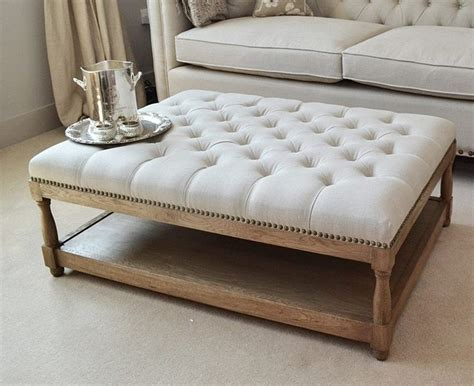 upholstered ottoman coffee table furniture awesome grey square fabric ottoman coffee table
