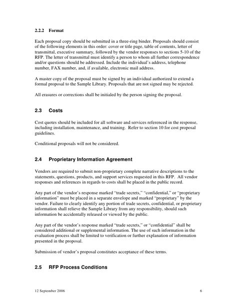Supplier Evaluation Letter Template Sle Library Request For Proposals Integrated Library System