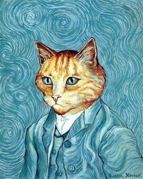 cool cat painting 艺术猫 欣赏艺术猫图片 搞笑图片 图久网