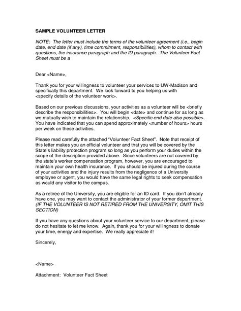 charity work letter letter volunteer sle dfwhailrepaircomvolunteer work on