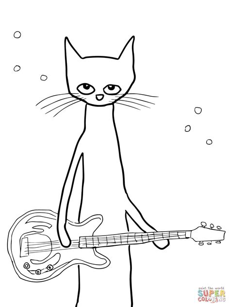 pete the cat coloring page shoes pete the cat coloring page free printable coloring pages