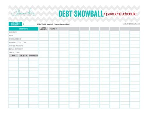 debt sheet template debt snowball payment schedule beautiful and