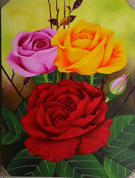 Lukisan Kaligrafi Merah Dan 1 50 contoh gambar lukisan bunga sederhana yang indah di