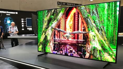 samsung 8k tv samsung enters the 8k fray with big screen qled tvs