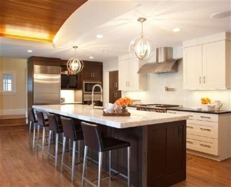 Narrow Kitchen Design With Island kitchen dark cabinets white island