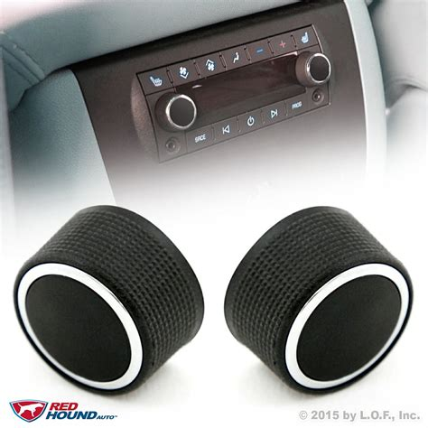 2 rear knobs audio radio escalade enclave tahoe