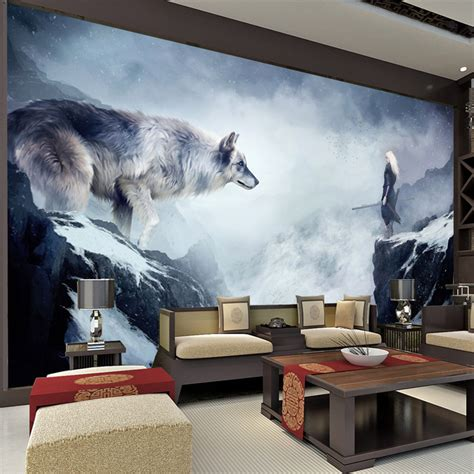 wolf bedroom wolf bedroom decor popular wallpapers buy cheap