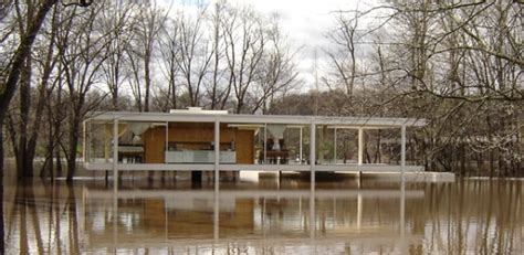 Ranch Style Home Interior Mies Designed Farnsworth House Appears Safe Near Rising