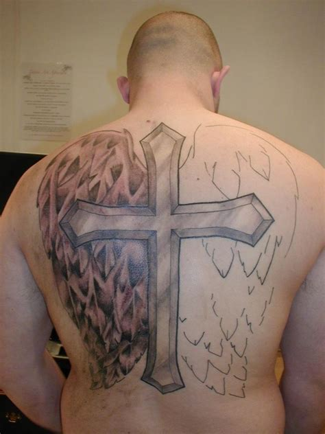 cross with wings tattoo on back cross tattoos designs ideas and meaning tattoos for you