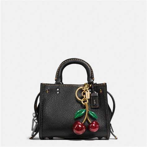 Cool Coach Jewelry by Lyst Coach Cherry Bag Charm In Black
