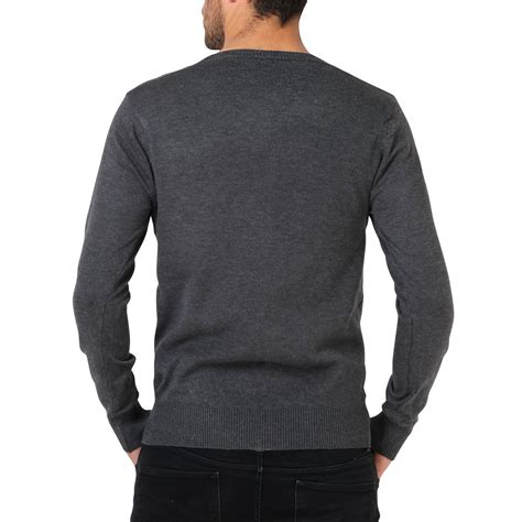 mens knit pullover mens soft cotton knit plain v neck fashion jumper knitwear