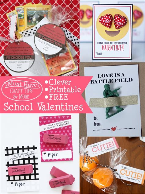 valentines school must craft tips printable school valentines