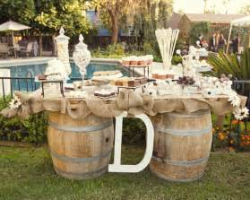 Rustic Wedding Buffet Table Wedding Buffet