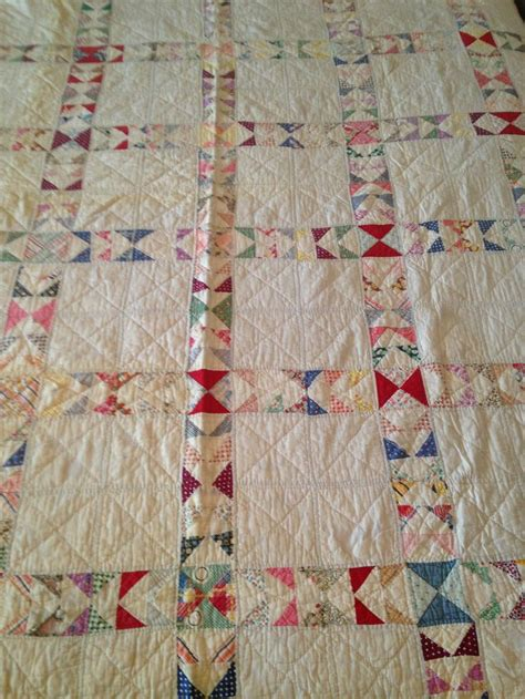 antique vintage handmade ladder cutter quilt