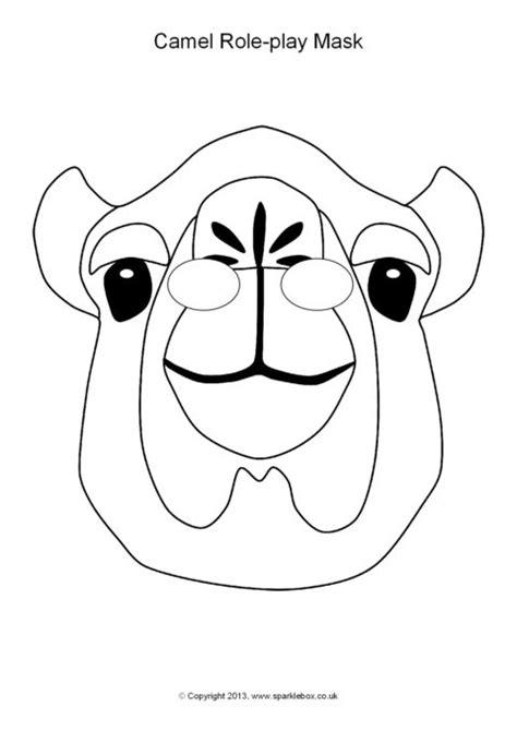 printable camel mask template camel role play masks sb10141 sparklebox