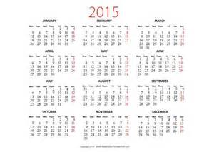 2015 Yearly Calendar Template In Landscape Format by 2015 Yearly Calendar Landscape Psd Design