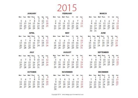printable yearly a4 calendar 2015 2015 calendar printable landscape new calendar template site