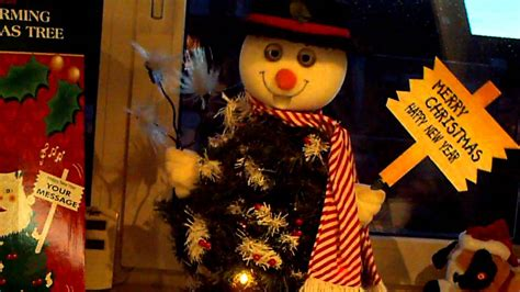 singing snowman tree youtube
